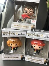 Hallmark Disney Harry Potter Christmas Ornament Harry Potter Granger Ron Set 3