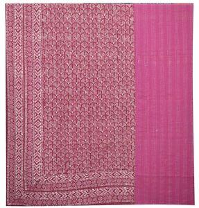 Indian Handmade Queen Cotton Kantha Quilt Throw Blanket Bedspread Vintage Throw