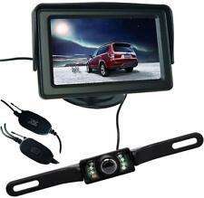 Wireless Car Reverse Rear View License Plate Camera Kit + 4.3 HD TFT LCD Monitor