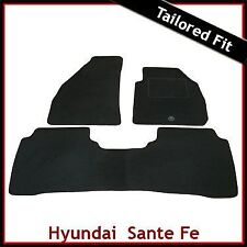 Hyundai Santa Fe Mk1 2001-2006 a medida Alfombras coche tapetes negro