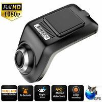 FHD 1080P Versteckte Auto DVR Kamera Video Recorder Dash Cam GPS G-Sensor USB