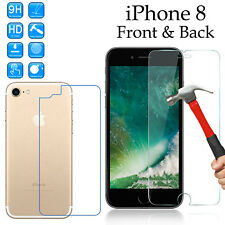 Tempered Glass 9H screen protector Apple iPhone 8 Front + anti scratch Back