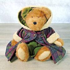 "1988 Boyds TEDDY BEAR Amber Oakley 16"" LG Jointed Wool Coat Dress Acorn Buttons!"