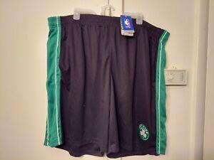NBA  Majest Boston Celtics Basketball  Warm Up Shorts Mens Sizes 4XL Green Nwt