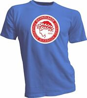 OLYMPIACOS FC Greece Football Soccer T-SHIRT NEW Size s Men's Tee Shirts Blue