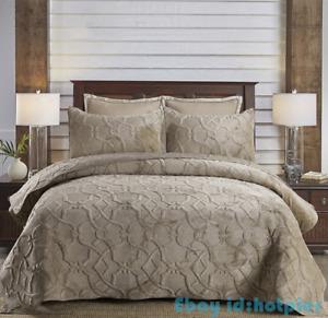 High-grade Chic Jacquard Cotton Quilting Quilt Pillowslip 3pcs AB Version New