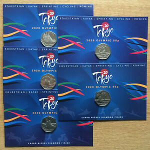 TOKYO 2020 Summer Olympic Games 50p Pobjoy only 3,750 Full Set