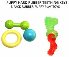 HAPPYPET LITTLE RASCALS MULTIPACK PUPPY TEETHING KEYS & 3 PACK RUBBER TOYS