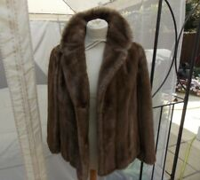 GORGEOUS VINTAGE LADIES HONEY PASTEL MINK REAL FUR JACKET SIZE 10?