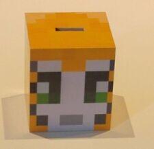 wooden Minecraft inspired stampy moneybox piggy bank great stocking filler