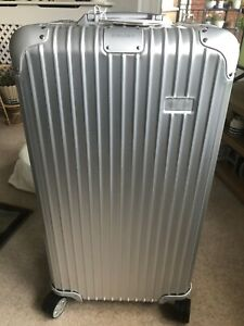 BNWT Rimowa Topas Trunk Plus Multi wheel Spinner Aluminium Suitcase 100 Litre