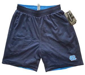 Notrh Carolina Boys Size Medium reversible Blue / dark blue basketball shorts