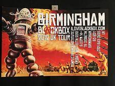Blackbox Forbidden Planet 2012 UK Birmingham Tour Poster Signed/Numbered
