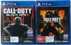 Call of Duty Black Ops 3 and Call of Duty Black Ops 4 PS4