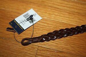 New POLO Ralph Lauren UNISEX Braided Leather Wrist Strap Bracelet Black OR Brown