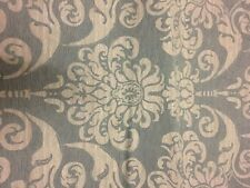 Army Green/Sage Green Large Damask Design Cotton/Poly Home Fabric 1/3 yd remnant