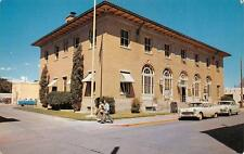 LAS CRUCES, NM  New Mexico   COURT HOUSE  Dona Ana County  50's Cars  Postcard