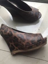 Seychelles leopard print wedges