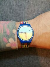 Retro Funky Swatch 'Lucky Shadow' watch. Reserve Strap