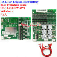 10S 35A w/ Balance Li-ion Lithium 18650 Battery Charger BMS Protection PCB Board