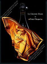 2003 Veuve Clicquot La Grande Dame champagne orange label photo vintage print ad
