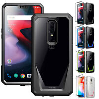 For OnePlus 6 Rugged Case Poetic Guardian TPU Cover With Tempered Glass 4 Colors