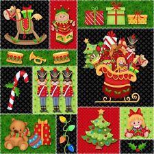 1 Half Metre Length Jolly Ole' St Nick Christmas Santa Print Fabric - 4790-408