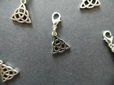 CELTIC KNOT silver tone charm clip on dangle lobster clasp for charm bracelets