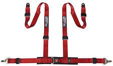Sumex course sport marque 4 point sécurité piste voiture de course ceinture harnais-Rouge