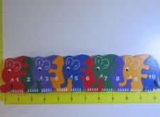 SRI LANKA Elephant 1-10 Number Wooden Jigsaw Puzzle