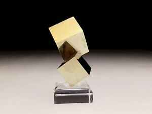 Natural Pyrite Crystal Double Cube #20