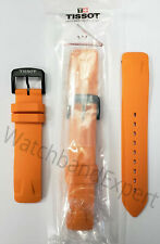 Original Tissot T-race Touch T081420a Orange Rubber Watch Band Strap With Pins