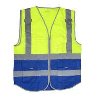 Reflective Vests High Visibility Safety Vest Zipper Reflective Strip Jacket