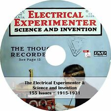 The Electrical Experimenter (155 Issues, 1915-1931) Science Magazine on DVD