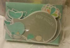 Unique CARLTON CARDS Boy or Girl Baby Shower Invitations 8 Pack Whale Unisex