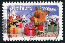 TIMBRE DE FRANCE  OBLITERE N° 3990 / AUTOADHESIF N° 101 MEILLEURS VOEUX