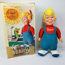 Vintage Talking Beany Doll Beany & Cecil Mattel with Box & Propeller 1961