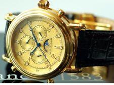 "Calvaneo ""ESTEMIA GOLD"" Diamanten besetzte Kalender-Mondphase, Ronda 706 Uhrwerk"
