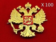 Russian Emblem Badges on Hat, Imperial Double-Headed Eagle, set of 100 Pieces!!!