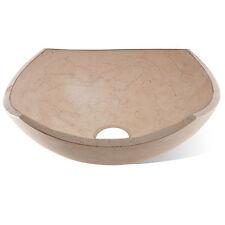 Lavabo bagno da appoggio a vaschetta diametro 40 cm in marmo design irregolare