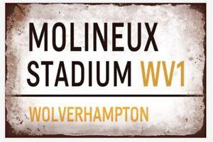 Wolves Wolverhampton Wanderers Metal Sign Vintage  Football Bar Man Cave Plaque
