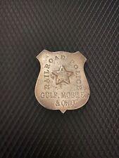 Obsolete BADGE TEXAS-Gulf, Mobile & Ohio G.M.&O Railroad w makers mark? 2-31
