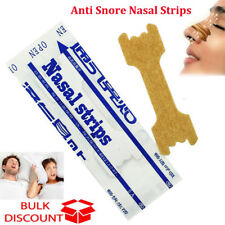 10-100x Anti Snore Nasal Strips to help Breathe Right And Better Stop Snoring EL