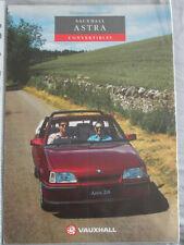 VAUXHALL ASTRA CABRIOLET brochure gamma 1992 ed 1