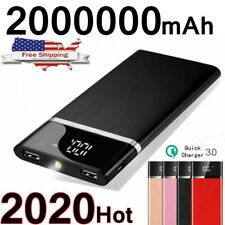 Ultra-thin Portable 2000000mAh Power Bank External Battery Charger Fast Charging