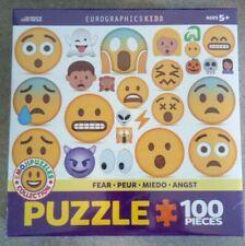 EuroGraphics Kids  Emoji Puzzle Fear 100-Piece Jigsaw Puzzle