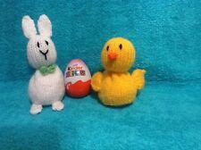 Knitting Pattern-cioccolato kinder uovo-Pulcino e Coniglietto Pasquale