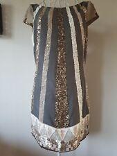 STUNNING ALL SAINTS BLOQUE DAZZLE HAND EMBELISH DRESS,SIZE UK10,EU38,US6 RRP£295