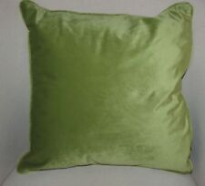 "Evans Lichfield Green Piped Royal Velvet Soft CUSHION COVER 17"" (43cm)"
