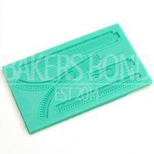 Multi 4-piece Zip Fastener Impressions Fashion Theme Silicone Mould